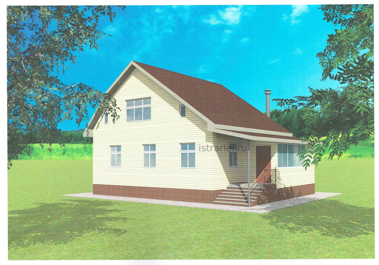 конечный вид дома в архитектурном проекте