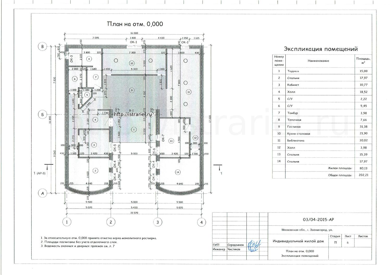архитектурный проект жилого дома