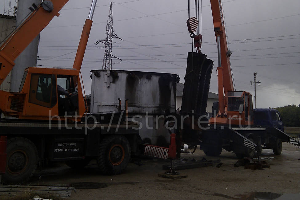монтажные работы при подведении электричества в одном из СНТ Истринского района